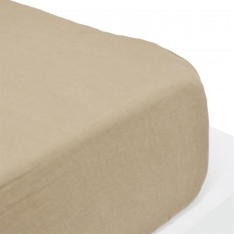 Angellinen - Fitted sheet linen stone wash