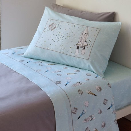 Sheet Set Rocket Cotton Flannel, LAMEIRINHO