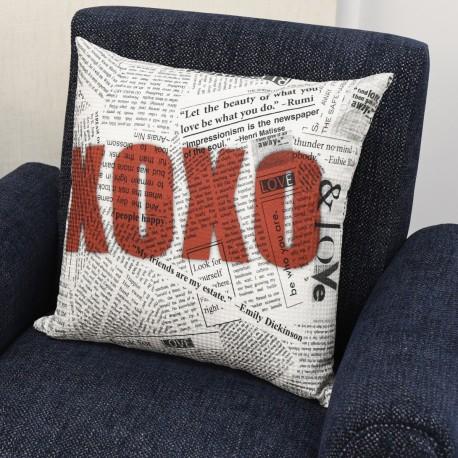 Capa de Almofada Decorativa - XOXO