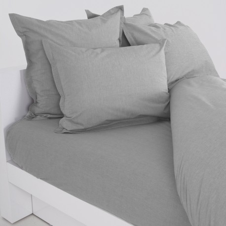 Heder - Fitted sheet percale chambray
