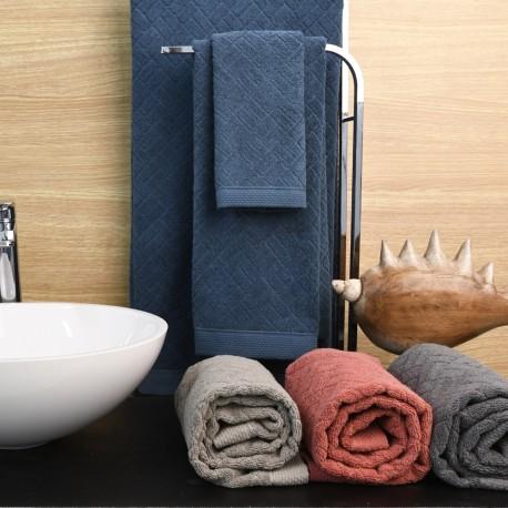 Bath Towel set Squares 3 Towels Cotton, LAMEIRINHO