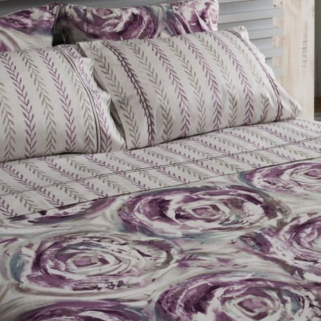 Sheet Set Abstract Cotton Satin, LAMEIRINHO