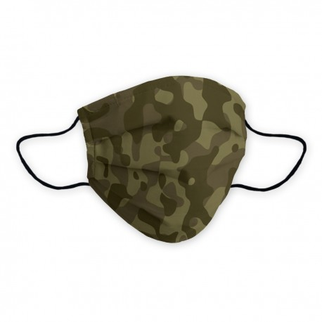 Army certified social mask with camouflage design