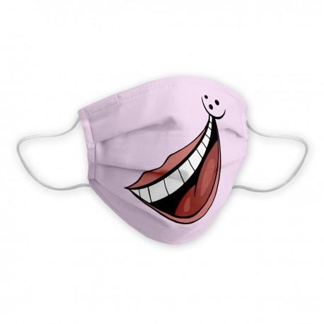 Máscara social infantil certificada Big Smile con diseño de sonrisa