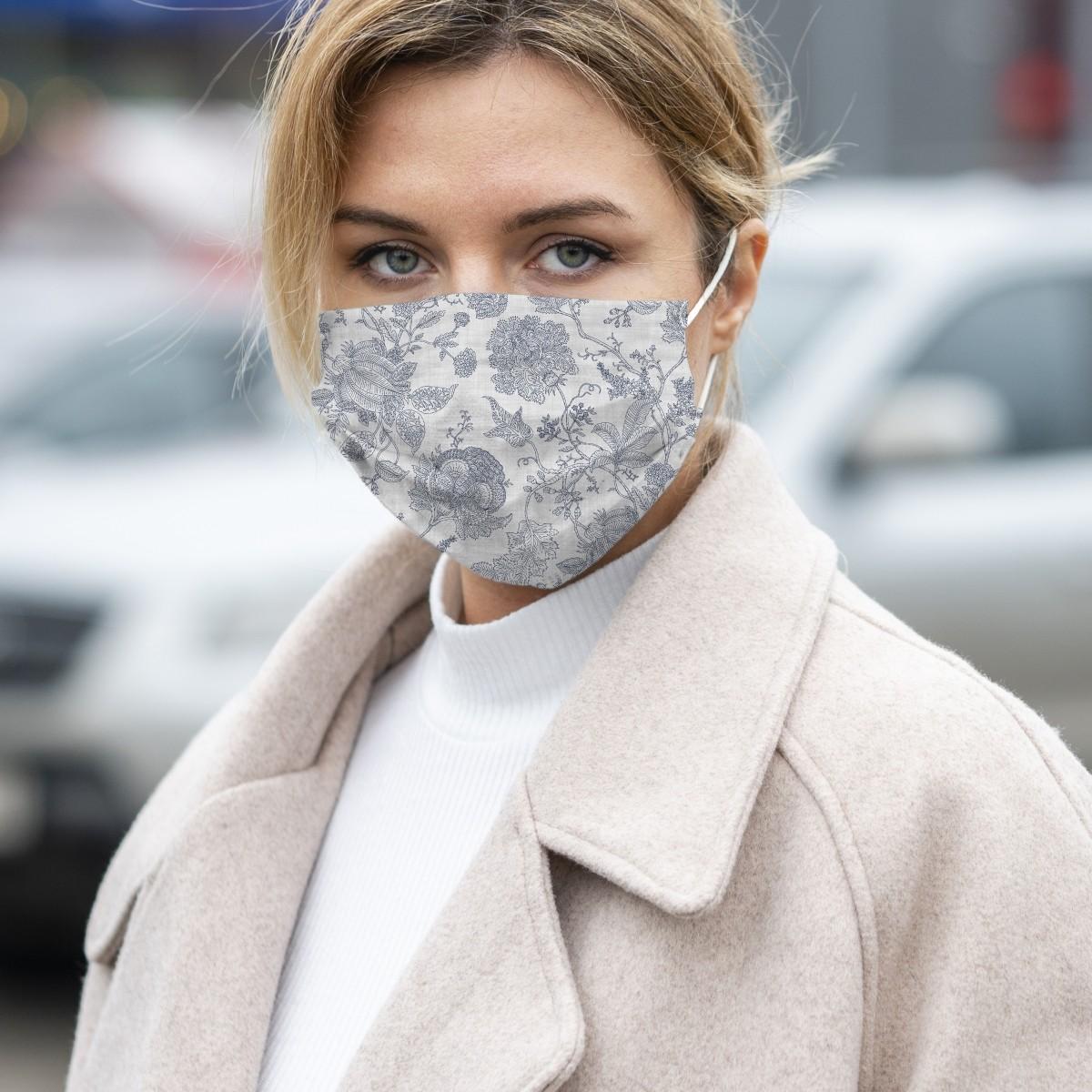 Woman Wearing Lady Certified Social Mask