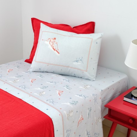 Sheet Set SNOW Velvet Flannel Cotton, LAMEIRINHO