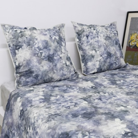 Quilted Throw Set FALL Reversible Cotton Percale, LAMEIRINHO