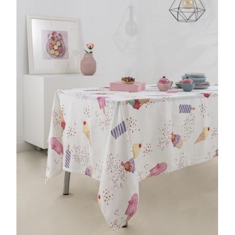 Toalha de mesa ICE CREAM Algodão, LAMEIRINHO