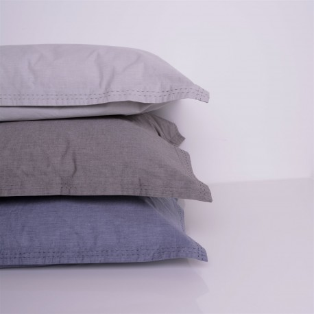 Heder - Pillowcase percale chambray