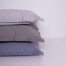 Heder - Funda de almohada percal chambray